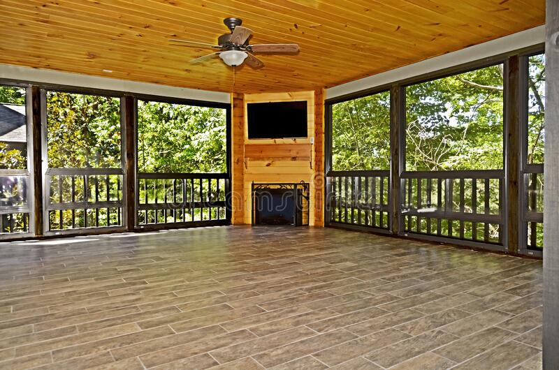 Porch för alla säsong arkivbilder