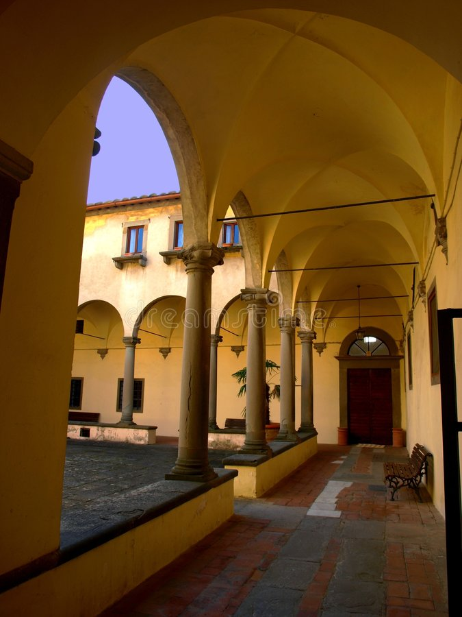 Free Porch In The Ancient Cloister Stock Image - 6684961