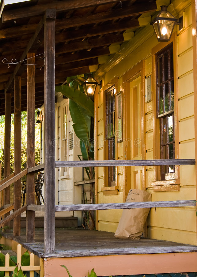 Porch with a Light royalty free stock photos