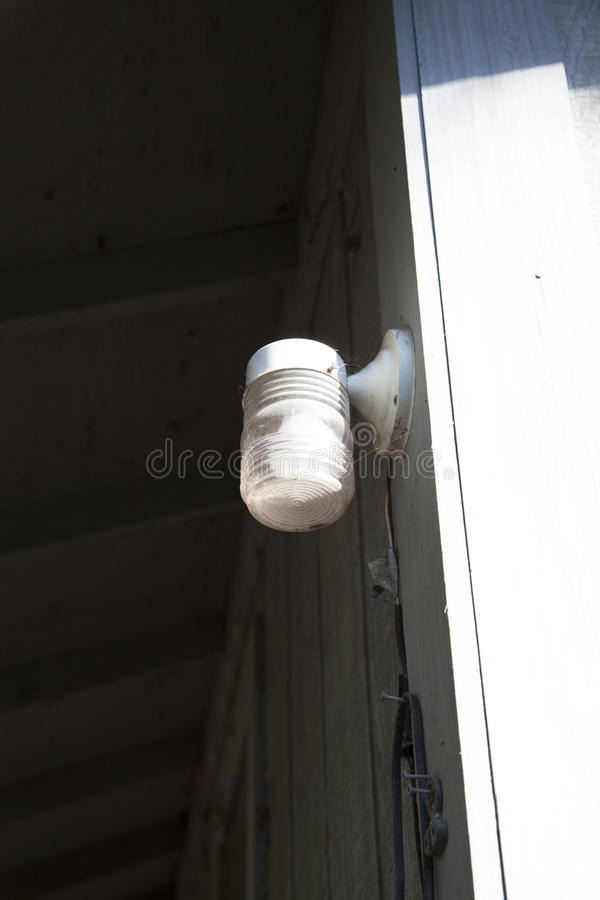 Porch Light. Outside in the daytime stock photo