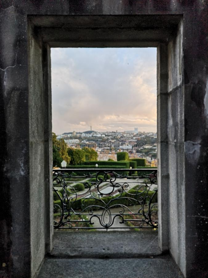 Porch view at Oporto royalty free stock image
