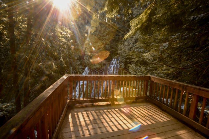 Porche à l'automne photos libres de droits