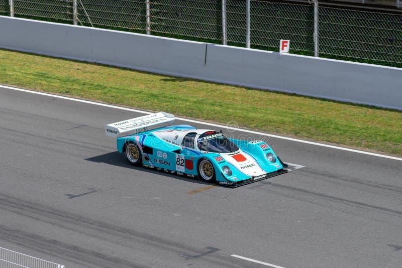 Porche 962 Classic endurance racing group C in montjuic spirit Barcelona circuit car show.  royalty free stock photos