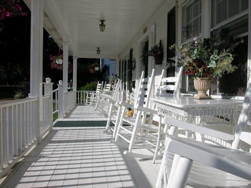 Porche-Couleur blanche classique d'avant de planche image libre de droits