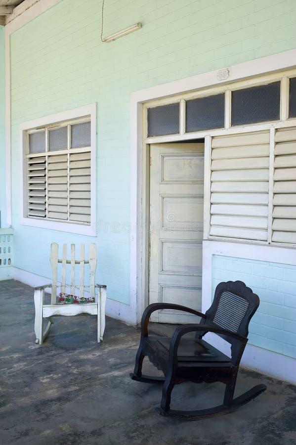 Porche de Vinales, Cuba photographie stock