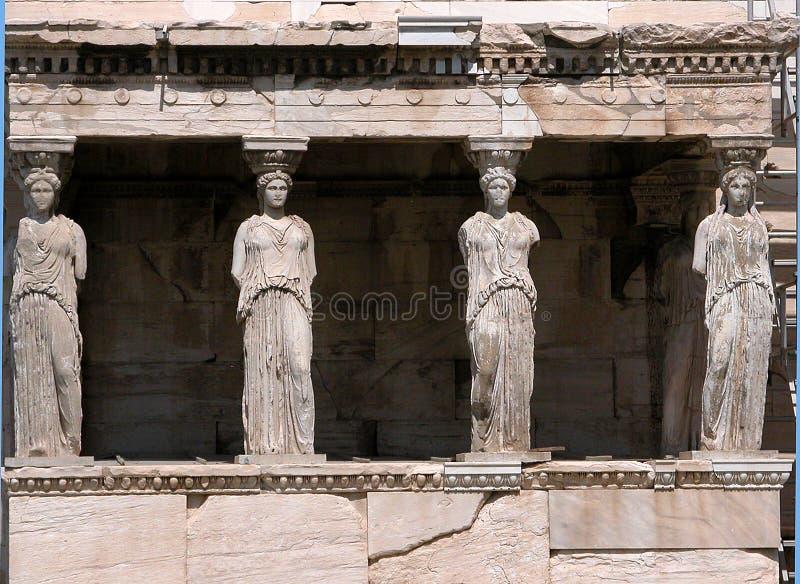 Download Porche du Karyatids photo stock. Image du antique, religion - 63590