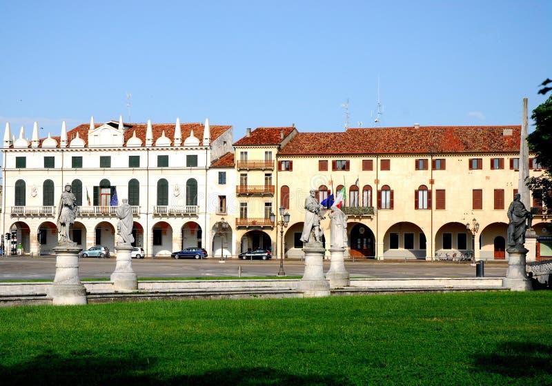 Porción al oeste del della Valle de Prato en Padua en el Véneto (Italia) fotografía de archivo