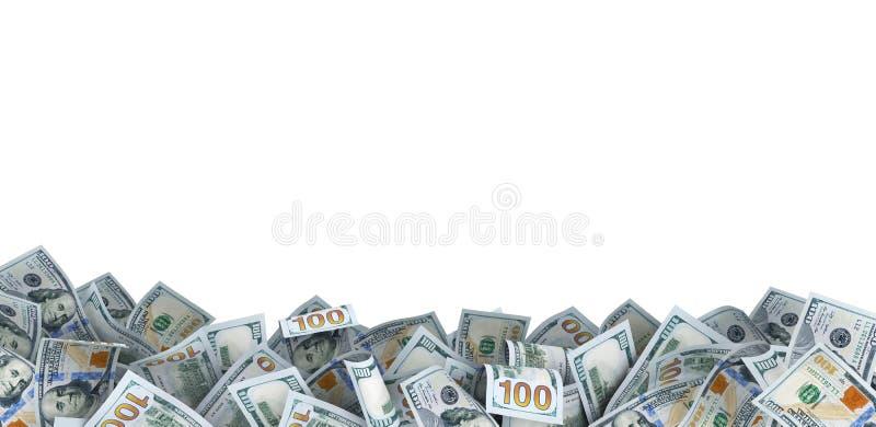 Porción de 100 billetes de dólar fotos de archivo