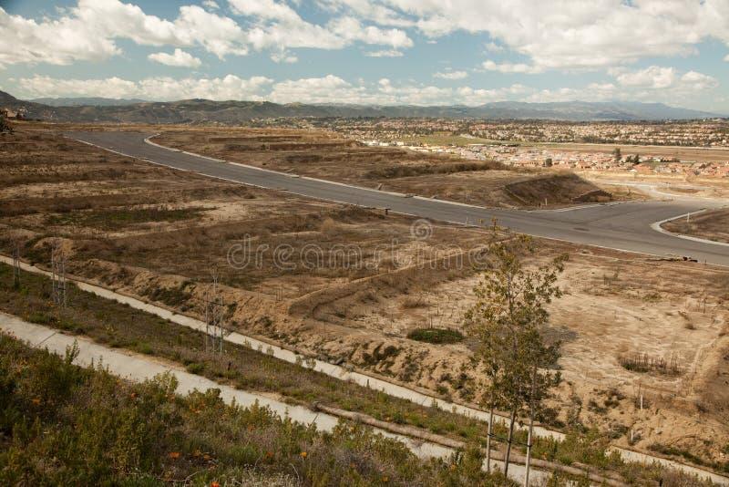 Porción de la construcción en asimiento durante la recesión fotografía de archivo libre de regalías