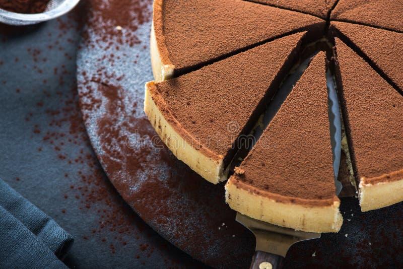 Porción de la porción de torta de chocolate imágenes de archivo libres de regalías
