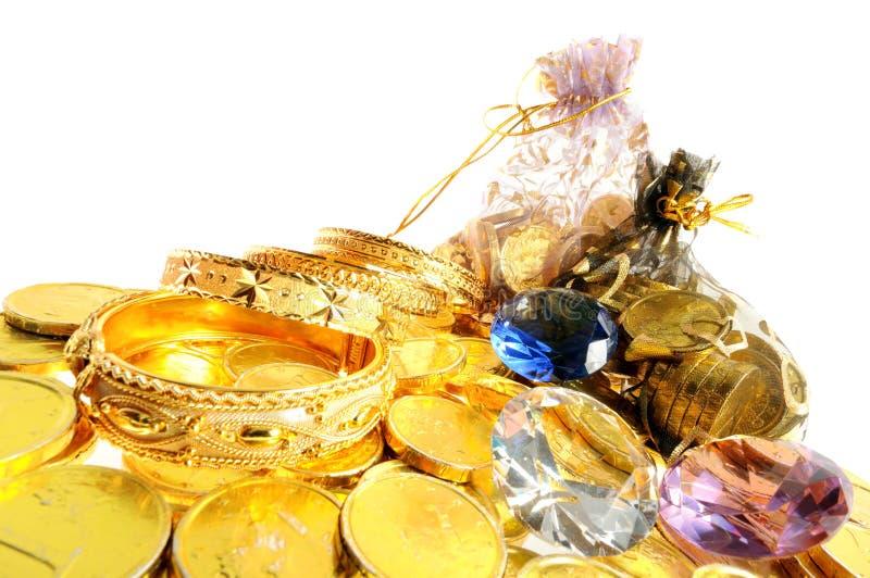 Porción de oros foto de archivo