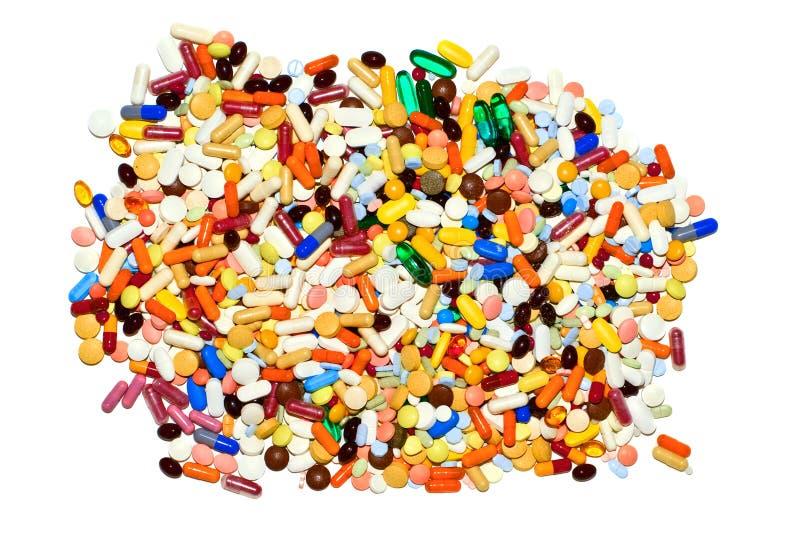 Porción de píldoras, aislada foto de archivo