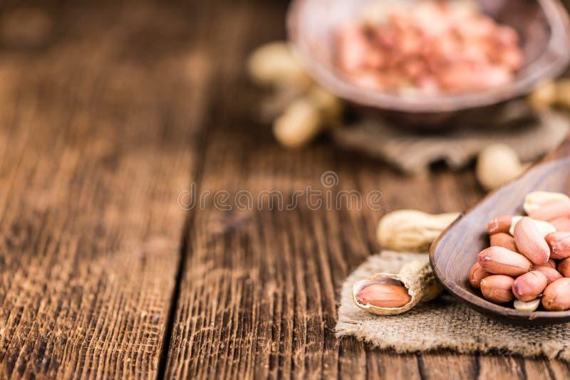 Porción de semillas del cacahuete fotos de archivo libres de regalías
