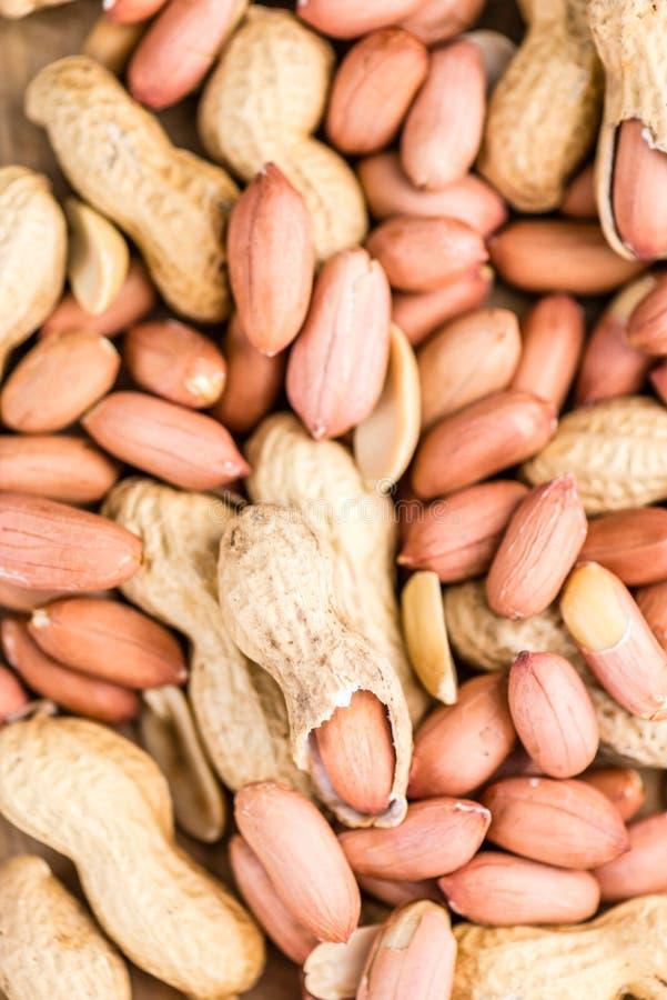 Porción de semillas del cacahuete fotos de archivo