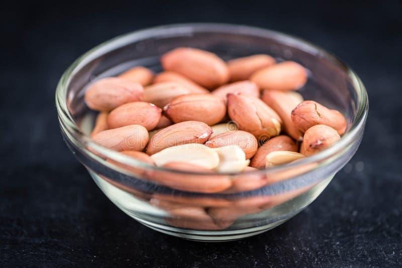 Porción de semillas del cacahuete fotografía de archivo libre de regalías