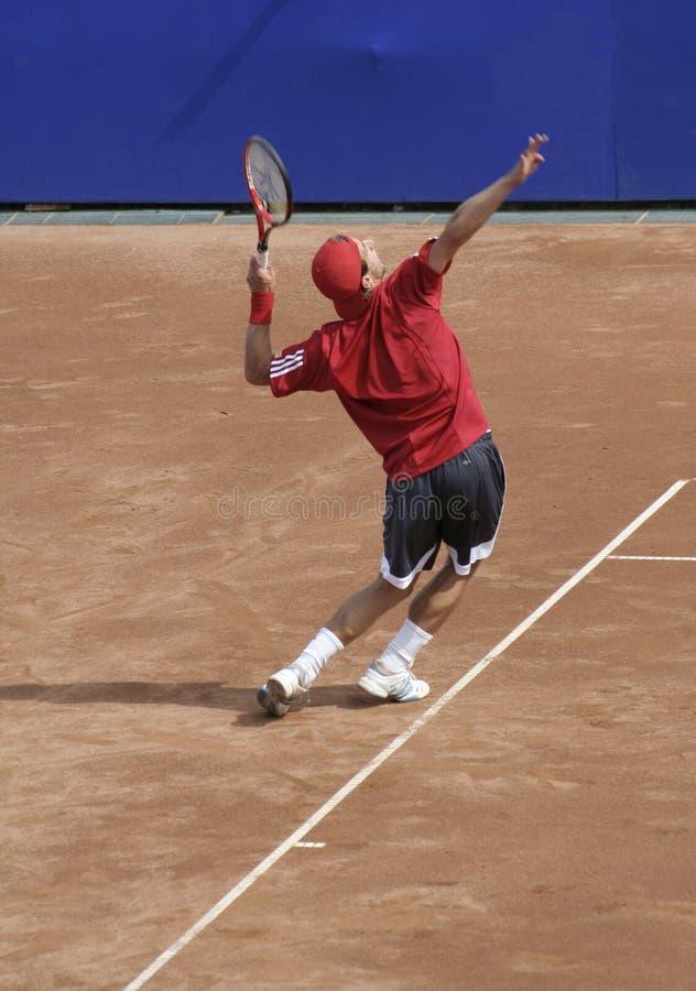 Porción del hombre del tenis imagen de archivo