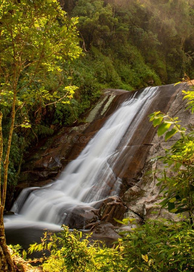 Porción más baja de restauración de la cascada de Macumba fotos de archivo