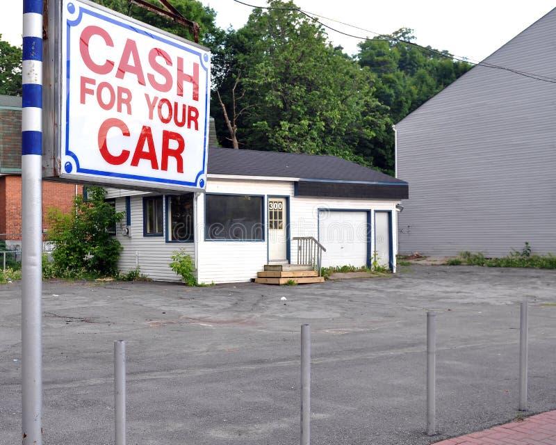 Porción vacante del coche usado fotos de archivo
