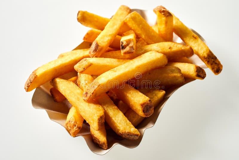 Porci?n de patatas fritas reci?n hechas imágenes de archivo libres de regalías