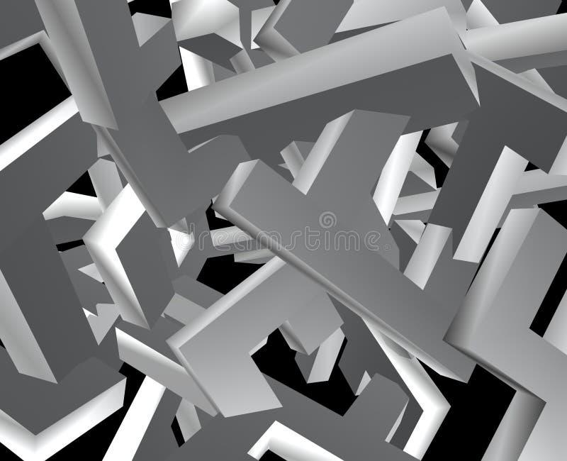 Porciones de bloques mezclados stock de ilustración
