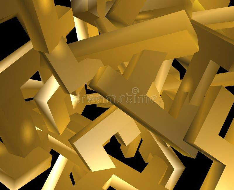 Porciones de bloques mezclados ilustración del vector