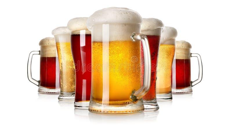 Porciones de cerveza fotos de archivo