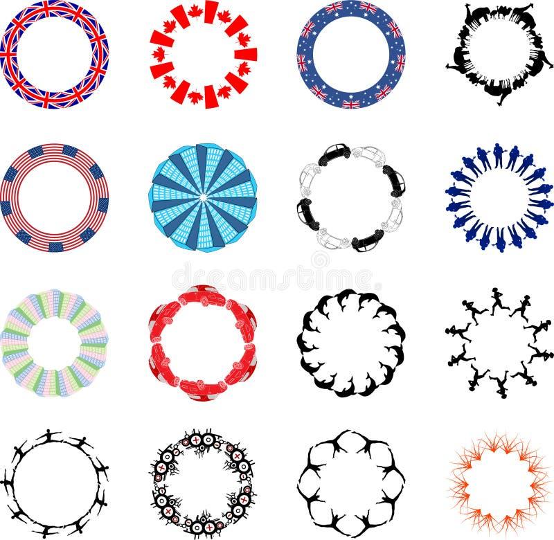 Porciones de diseños circulares libre illustration