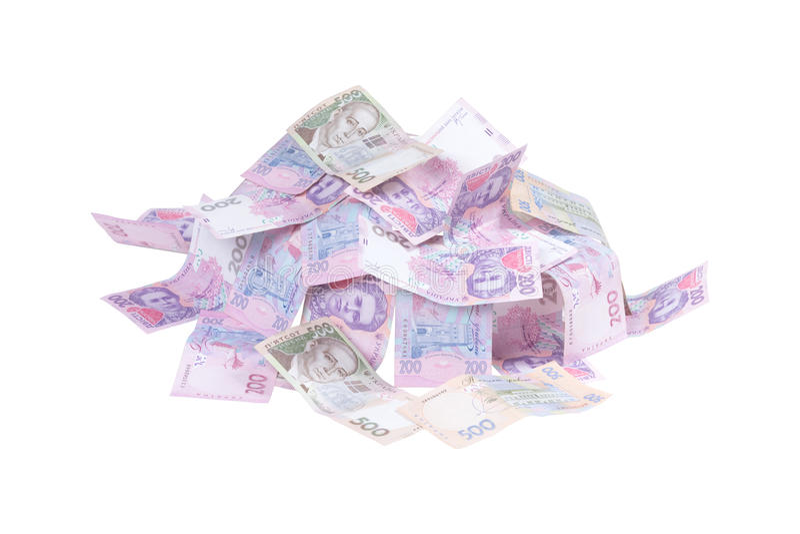 Porciones de grivna del dinero fotos de archivo libres de regalías