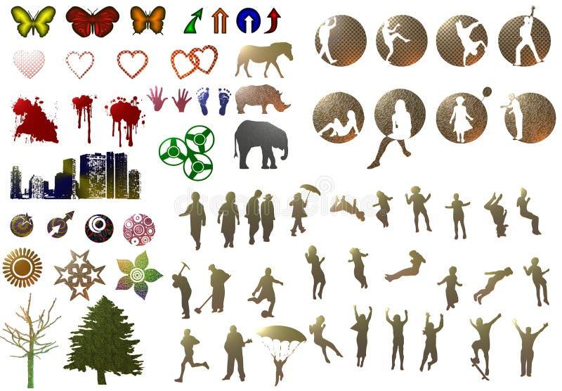 Porciones de ilustración stock de ilustración