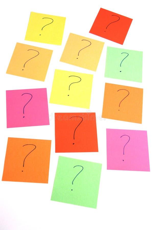 Porciones de preguntas imagenes de archivo