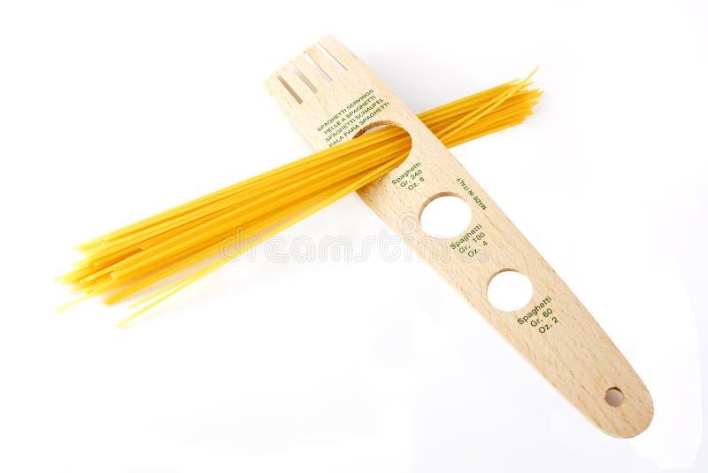 Porciones del espagueti imagenes de archivo