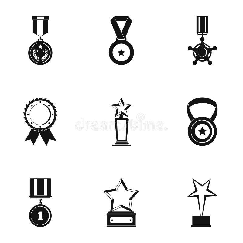 Porcj ikony ustawiać, prosty styl ilustracja wektor