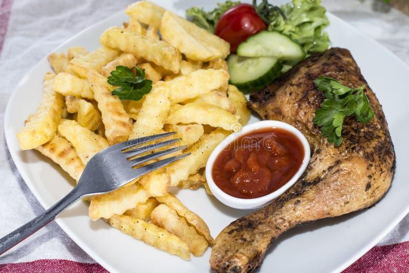 Porcja kurczak nogi zdjęcie stock