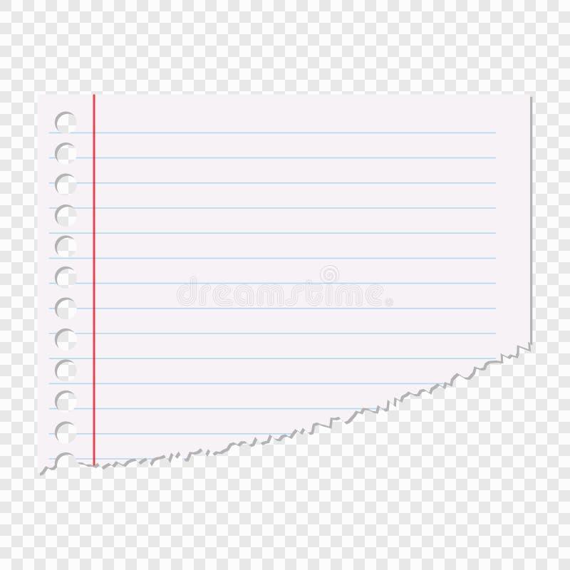 Porcja prześcieradło papier w linii odizolowywającej na przejrzystym tle Wektorowy element dla twój projekta ilustracja wektor