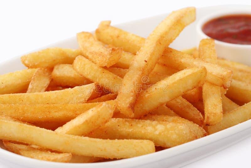 Porcja ?wie?o robi? pommes frites zdjęcia stock