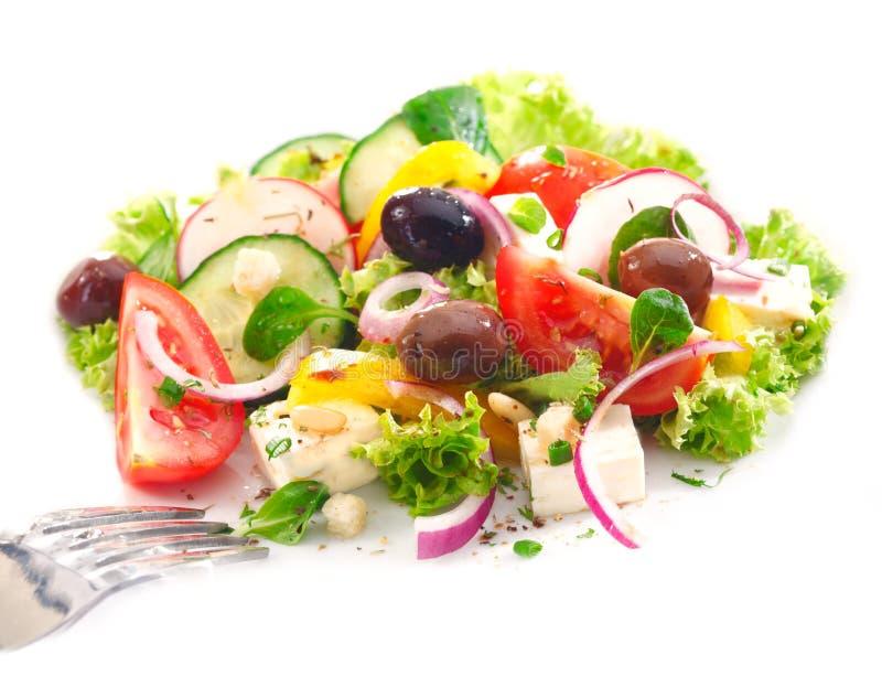 Porcja wyśmienicie Grecka sałatka obraz stock