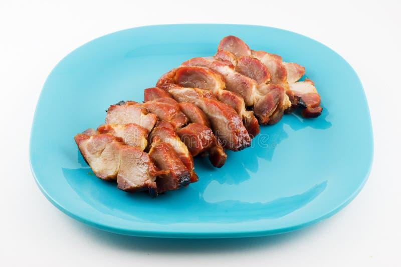 Porco arrostito col barbecue cinese fotografia stock