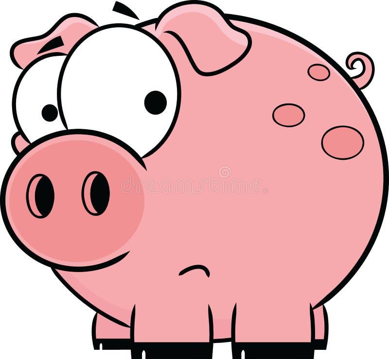 Porco cor-de-rosa dos desenhos animados ilustração stock