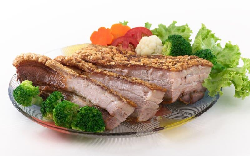 Porco croccante fritto immagine stock