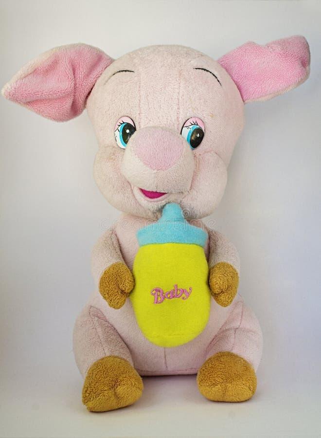 Porco do bebê do brinquedo imagem de stock