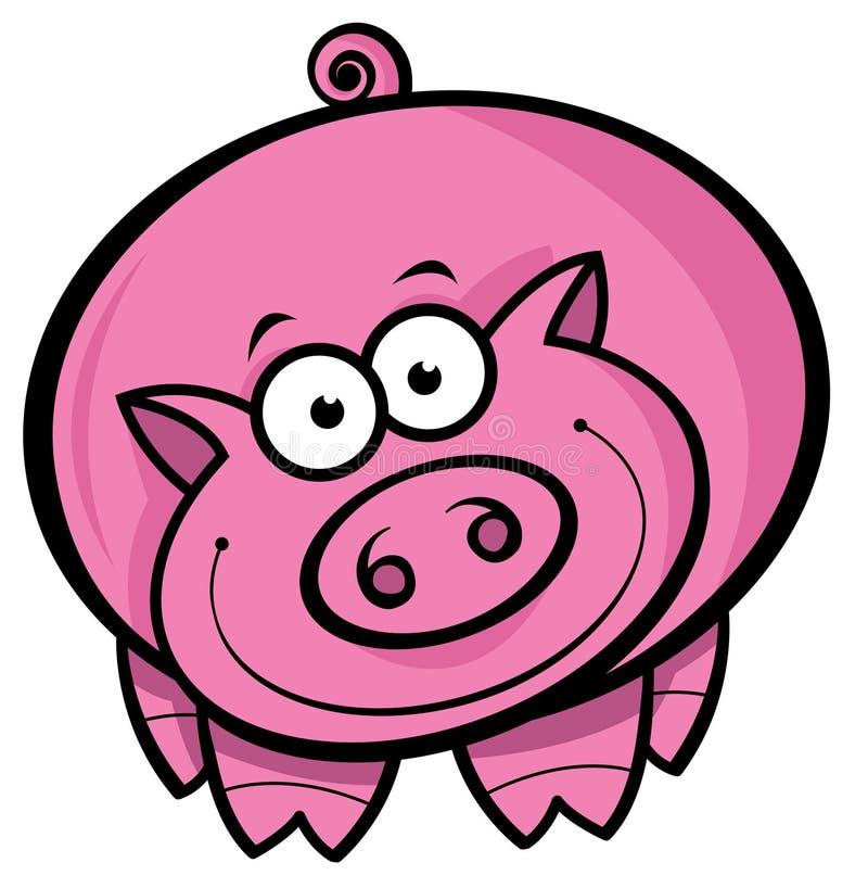 Porco dos desenhos animados ilustração stock