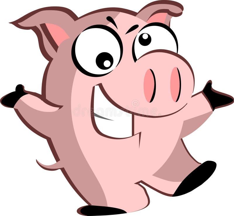 Porco dos desenhos animados ilustração do vetor