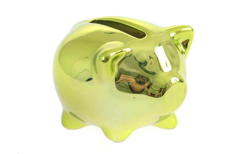 porco dourado da moeda imagem de stock
