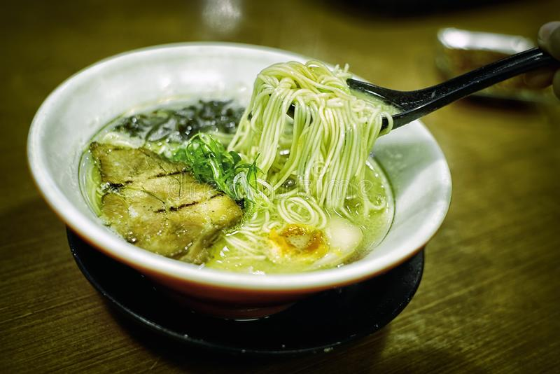 Porco giapponese Ramen immagini stock