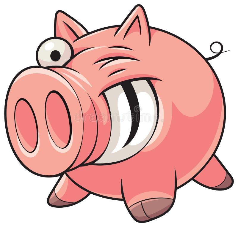 Porco gordo ilustração do vetor
