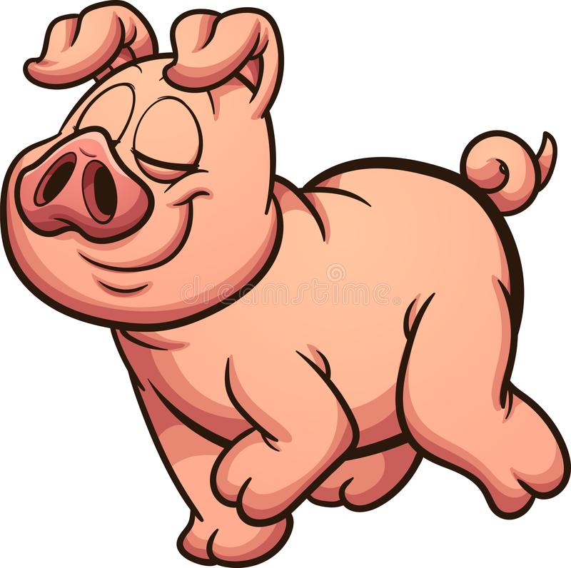 Porco orgulhoso ilustração royalty free