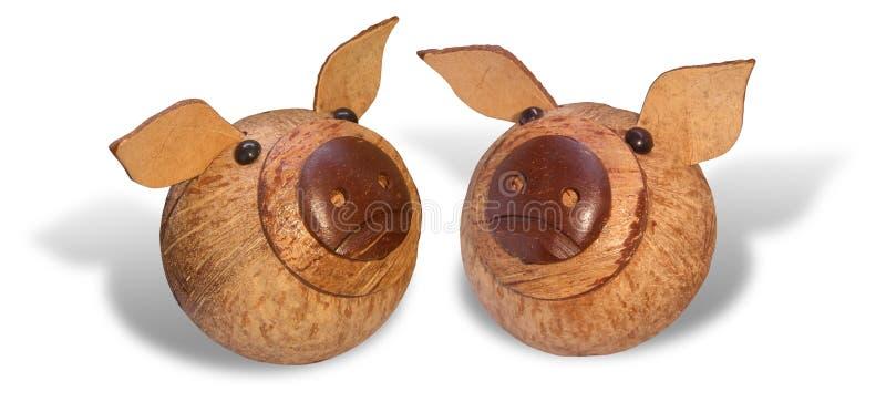Porcos de madeira imagem de stock royalty free
