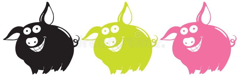 Porcs de vecteur illustration de vecteur