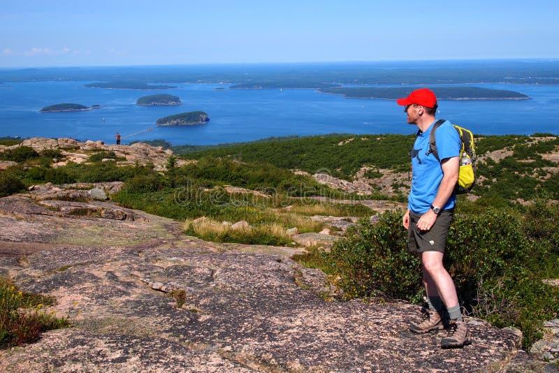 Porcupine νησιά από το βουνό Cadillac, εθνικό πάρκο Acadia στοκ εικόνες με δικαίωμα ελεύθερης χρήσης