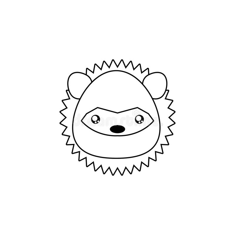 download porcupine drawing face stock vector image of white wild 86207834